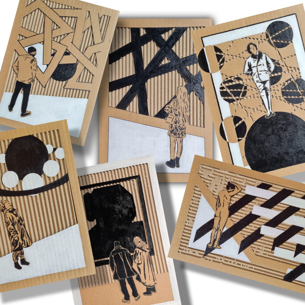 Sammlung der Papparbeiten BlackWhite